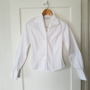 Anne Fontaine White Long Sleeve Button Up Shirt